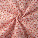 Samantha's Sweet Floral Garden Flowers and Blooms Polycotton Fabric Orange