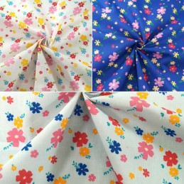 Polycotton Fabric Grove Street Floral Petals Flowers Garden Meadow