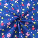 Grove Street Floral Petals Flowers Polycotton Fabric Navy