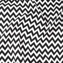 Polycotton Fabric 6mm Zig Zag Chevron Stripes Craft Black