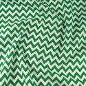 Polycotton Fabric 6mm Zig Zag Chevron Stripes Craft Green