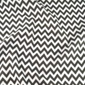 Polycotton Fabric 6mm Zig Zag Chevron Stripes Craft Grey