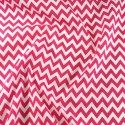 Polycotton Fabric 6mm Zig Zag Chevron Stripes Craft Cerise