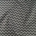 Polycotton Fabric 6mm Zig Zag Chevron Stripes Craft Silver Grey