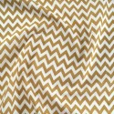 Polycotton Fabric 6mm Zig Zag Chevron Stripes Craft Tan