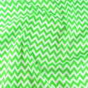Polycotton Fabric 6mm Zig Zag Chevron Stripes Craft Lime Green