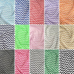 Polycotton Fabric 6mm Zig Zag Chevron Stripes Craft