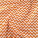 Polycotton Fabric 6mm Zig Zag Chevron Stripes Craft Orange