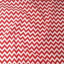 Polycotton Fabric 6mm Zig Zag Chevron Stripes Craft Red