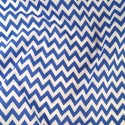 Polycotton Fabric 6mm Zig Zag Chevron Stripes Craft Royal Blue