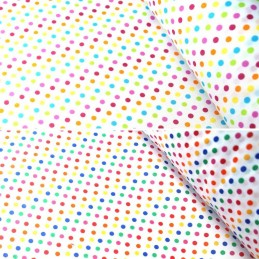 Polycotton Fabric 5mm Polka Dots Rainbow Coloured Sensational Spots