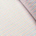 Polycotton Fabric 2mm Polka Dots Rainbow Coloured Sensational Spots Royal Blue/ Red