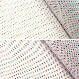 Polycotton Fabric 2mm Polka Dots Rainbow Coloured Sensational Spots