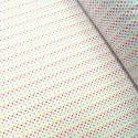 Polycotton Fabric 2mm Polka Dots Rainbow Coloured Sensational Spots Pink/ Turquoise