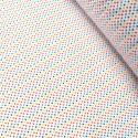 Polycotton Fabric 2mm & 5mm Polka Dots Rainbow Coloured Sensational Spots 2mm Royal Blue/ Red