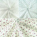 Miniature Ditsy Floral Flower Head Garden Toss Polycotton Fabric