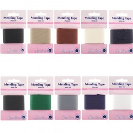 Hemline 1m x 35mm Iron On Mending Tape Repair Clothes Premium Quality 100% Cotton