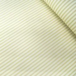 100% Cotton Poplin Fabric Rose & Hubble Ticking Stripes Fashion Tan