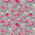 100% Cotton Patchwork Fabric Flamingos and Funky Pineapples (Nutex)