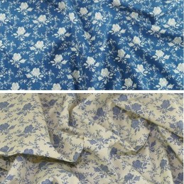 100% Cotton Poplin Fabric Rose & Hubble Shabby Chic Roses Floral Flowers