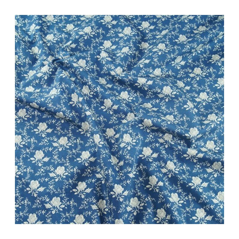 Copen 100% Cotton Poplin Fabric Rose & Hubble Shabby Chic Roses Floral Flowers