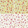 100% Cotton Poplin Fabric Rose & Hubble Abby's Rose Vine Floral Flowers