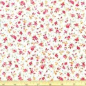 100% Cotton Poplin Fabric Rose & Hubble Abby's Rose Vine Floral Flowers Ivory