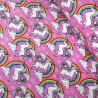 100% Cotton Poplin Fabric Rose & Hubble Unicorns Cloudy Rainbow Sky Unicorn