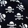 100% Cotton Fabric Skull & Crossbones Pirate Halloween Skeleton 150cm Wide