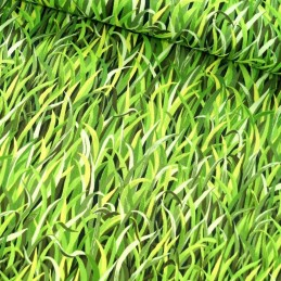 100% Cotton Patchwork Fabric Nutex Grass Is Always Greener Garden Lawn Fresh