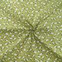 100% Cotton Poplin Fabric Adult Sheep Little Lambs Farm Animal Green