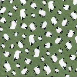 100% Cotton Poplin Fabric Rose & Hubble Adult Sheep Little Lambs Farm Animal