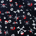 Mini Skulls Crossbones Bandanas Halloween 100% Cotton Fabric 137cm Wide