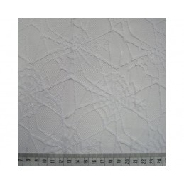 100% Polyester Halloween Haunted Spiderweb Lace Mesh Net 147cm Wide White