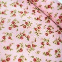 100% Cotton Poplin Fabric Rose & Hubble Rosie Cozy Peonies Floral Flower Pink