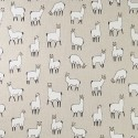 Cotton Rich Linen Fabric Curtain & Upholstery Llama