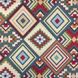 Aztec Tapestry New World Designer Fabric Ideal For Upholstery Curtains Cushions Throws