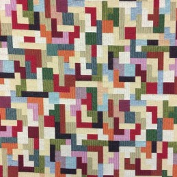 Tetris Tapestry New World Designer Fabric Ideal For Upholstery Curtains Cushions Throws