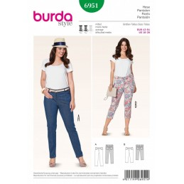 Burda Style Plus Size Trousers & Cropped Fabric Sewing Pattern 6951