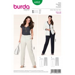 Burda Style Plus Dressy Smart Trousers Fabric Sewing Pattern 6952