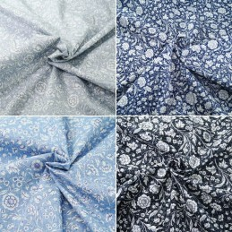 100% Cotton Poplin Fabric Rose & Hubble Cute Meadow of Daisies Floral Flower