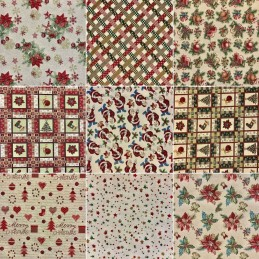 Christmas Tapestry New World Fabric Ideal For Upholstery Curtains