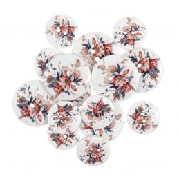 15 x Assorted Rose Flower Vines Wooden Craft Buttons 18mm - 25mm