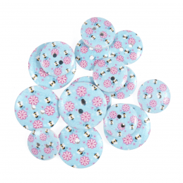 15 x Assorted Flowers And Bees Wooden Craft Buttons 18mm - 25mm