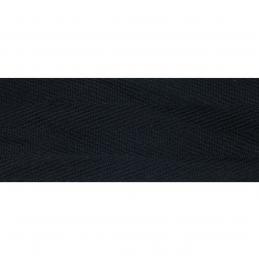 Black Herringbone Tape 100% Cotton