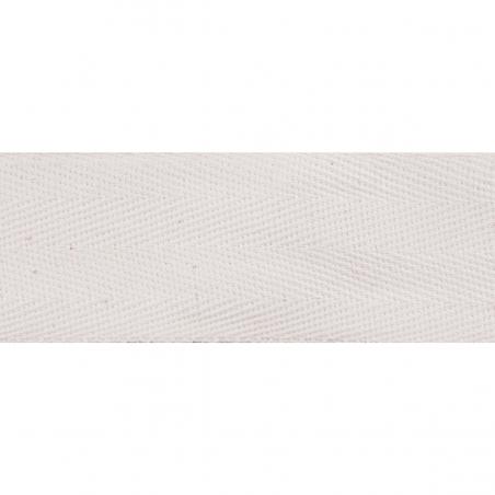 Cotton Herringbone Tape Natural and Black 25mm Wide.