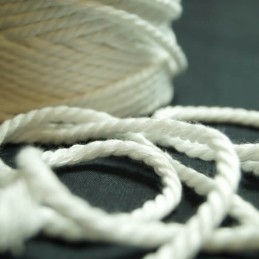 White Polyester Piping Cord Numbers From 2mm - 6mm