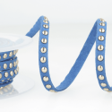 Royal Blue Faux Suede Studded Trim 6mm x 1m Trimming Craft