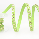 Lime Green Faux Suede Studded Trim 6mm x 1m Trimming Craft