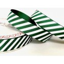 16mm Green Bertie's Bows Candy Cane Merry Christmas Grosgrain Craft Ribbon Selection